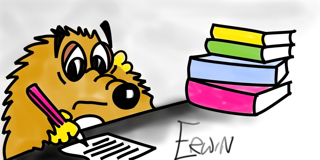 cartoon hedgehog writer Erwin