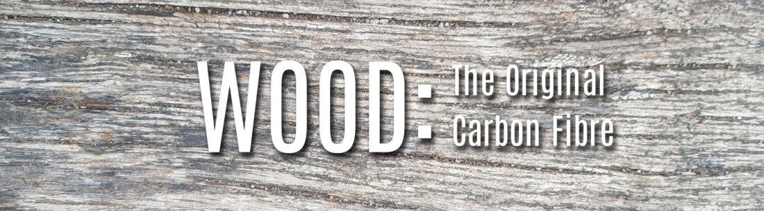 Logo wood the original carbon fibre